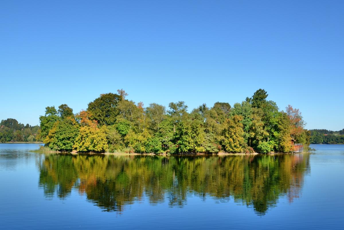 Spiegelung auf dem Staffelsee