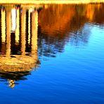 Spiegelung - Badenburger See mit Apollotempel
