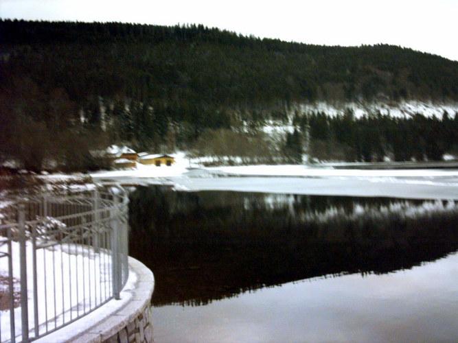 Spiegelung der Landchaft auf dem See