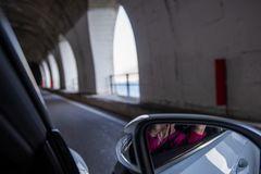 Spiegelung im 007-Tunnel