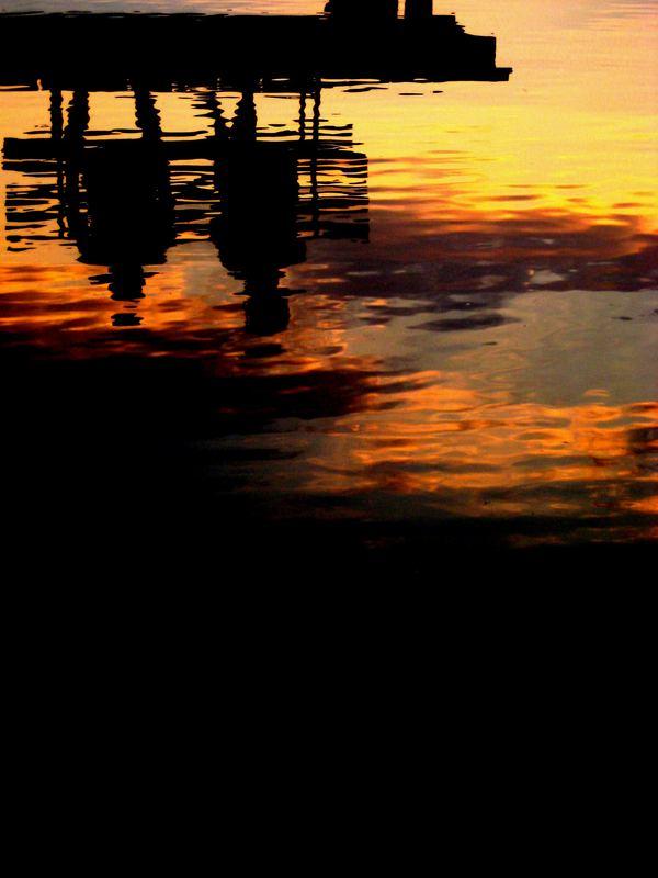 Spiegelung im Abendsee