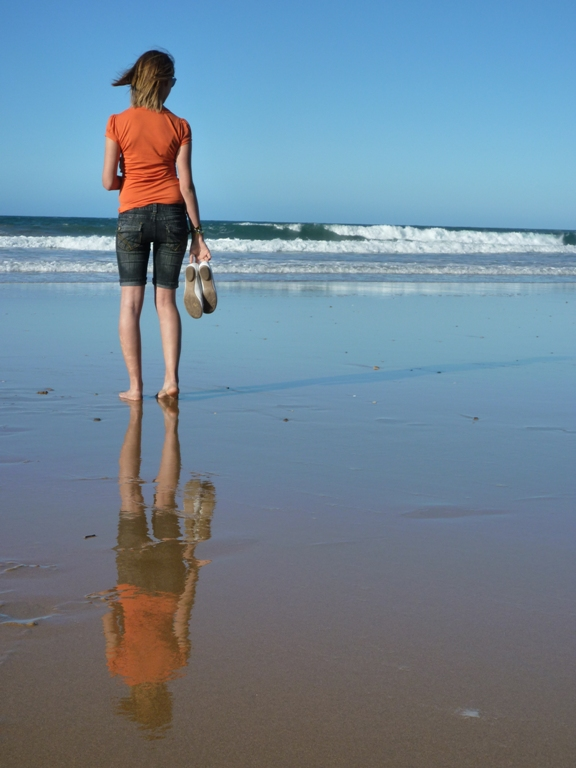 Spiegelung im Meer