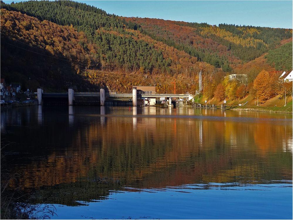 Spiegelung im Neckar