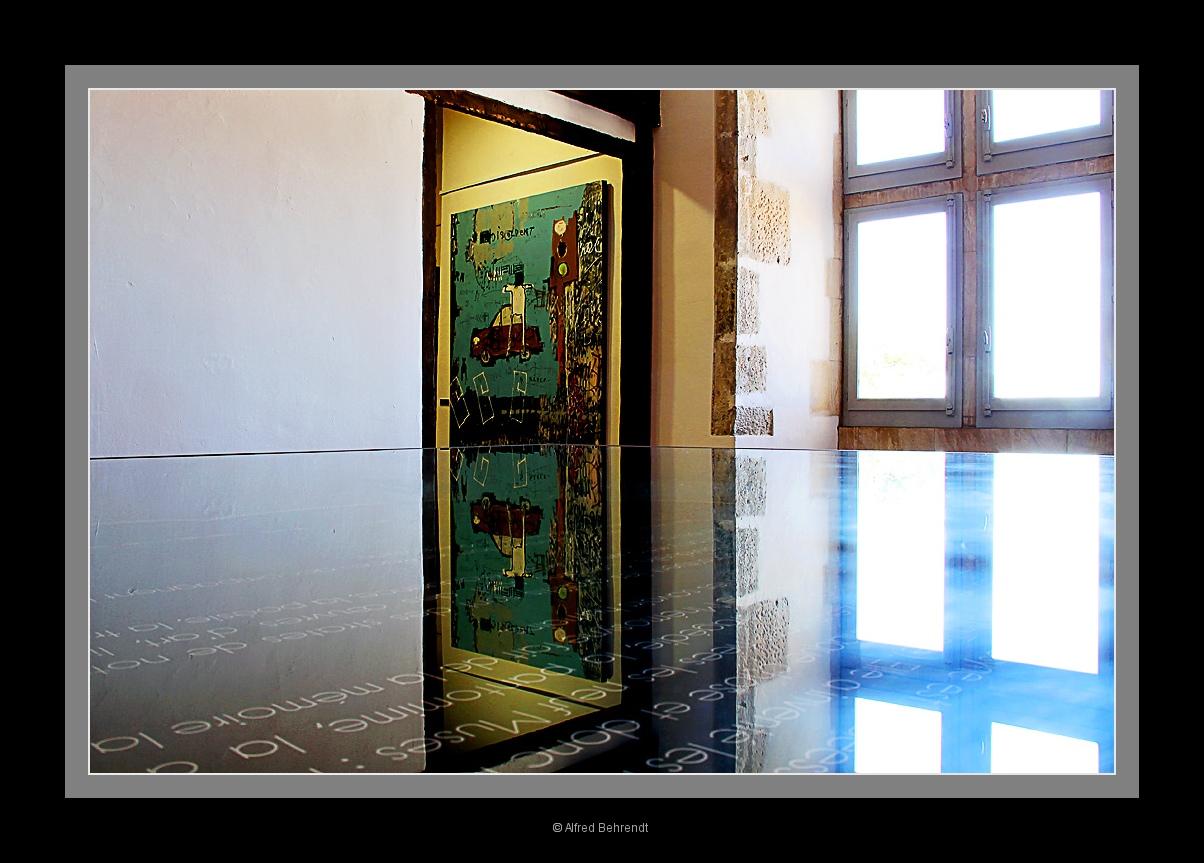 Spiegelung im Palais Rois de Majorque in Perpignan