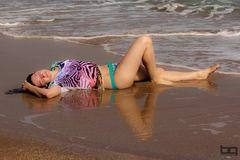 Spiegelung im Sand