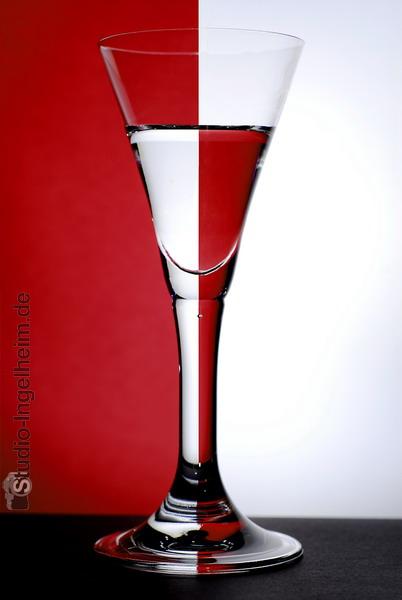 Spiegelung im Sektglas