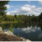 Spiegelung im Steinbruchsee