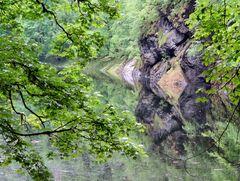 Spiegelung im steirischen Toplitzsee