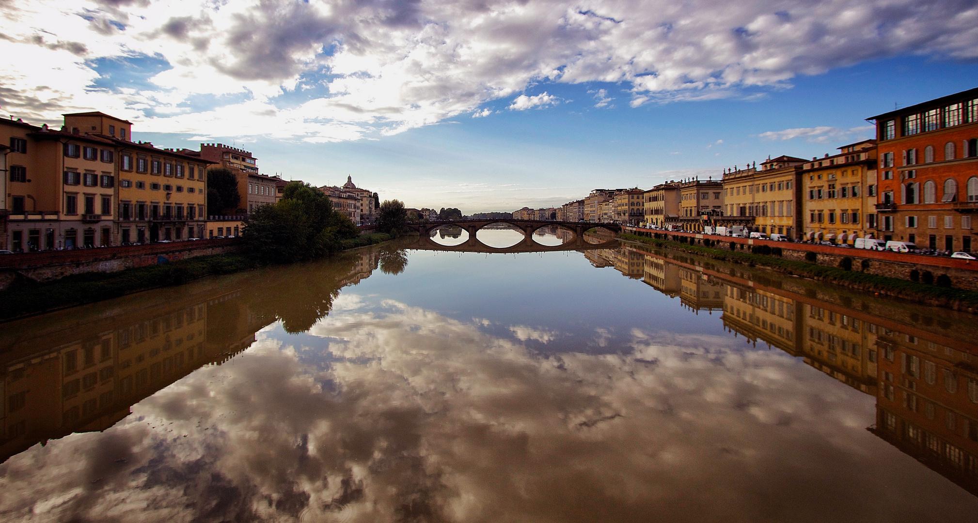 Spiegelung in Florenz