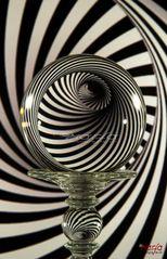 Spiegelung in Kristallkugel