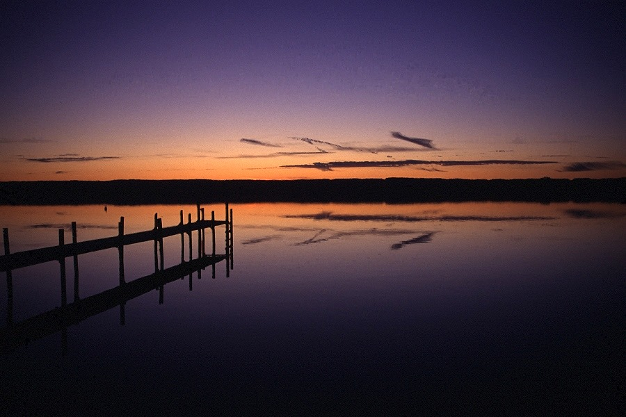 Spiegelung nach Sonnenuntergang