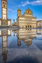 Spiegelung Rathausplatz