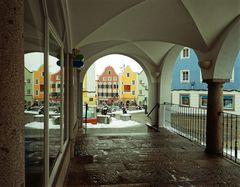 Spiegelung schöner Häuser