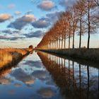 Spiegelungen am Kanal