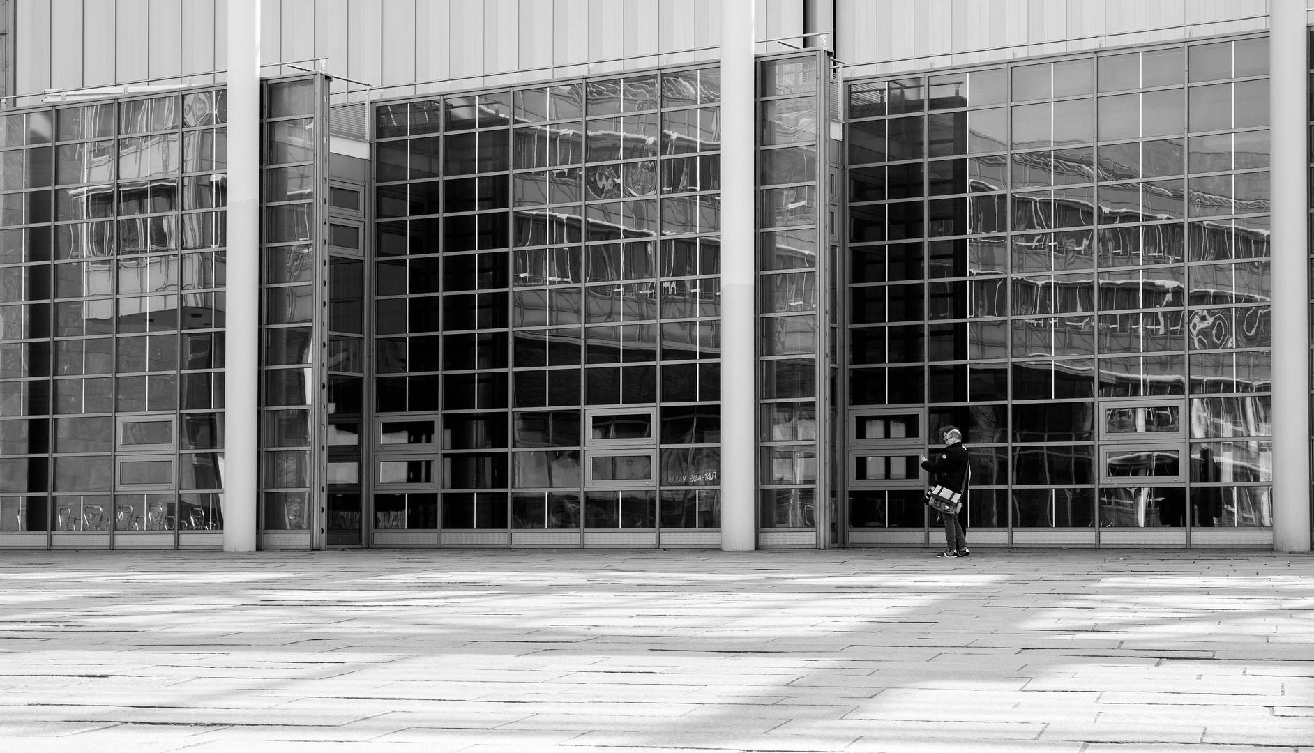 spiegelwand foto & bild | art, outdoor, schwarz-weiss bilder auf