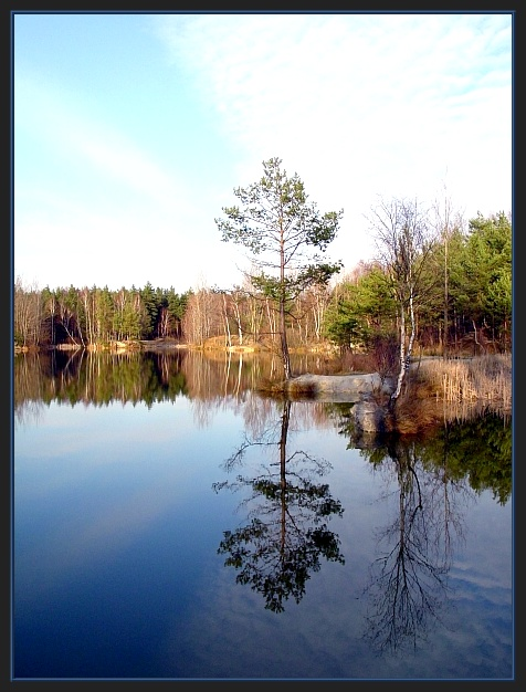 Spieglung im Baggersee
