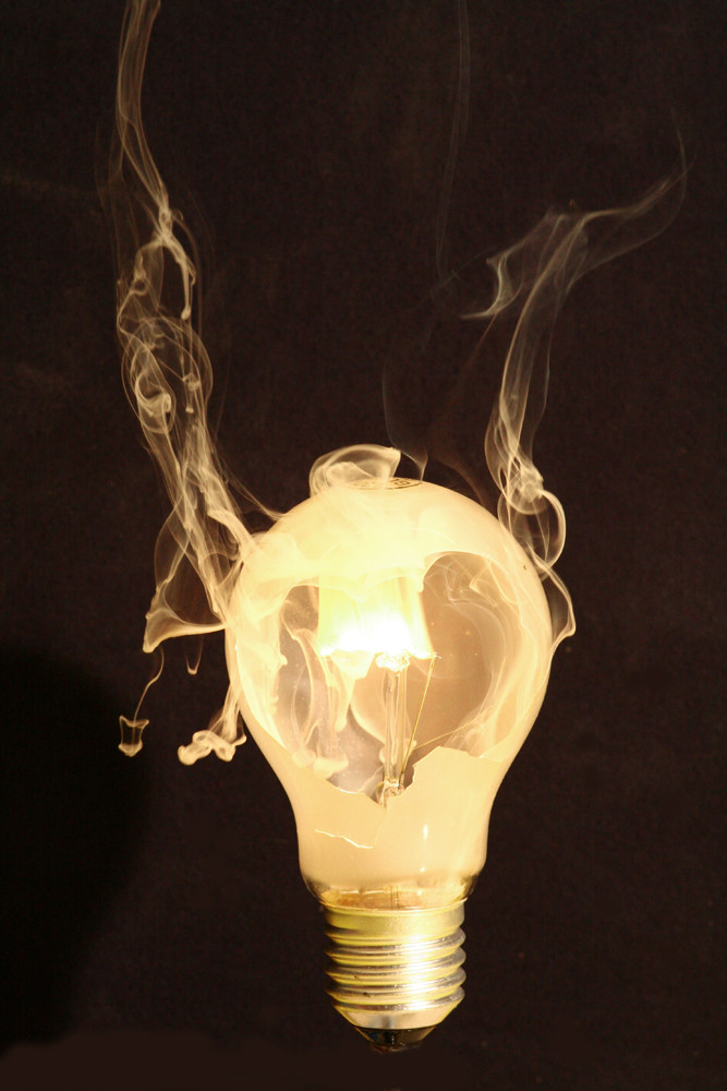 Spiel mit Glühbirne