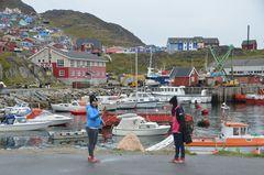 Spielende Kinder Greenland