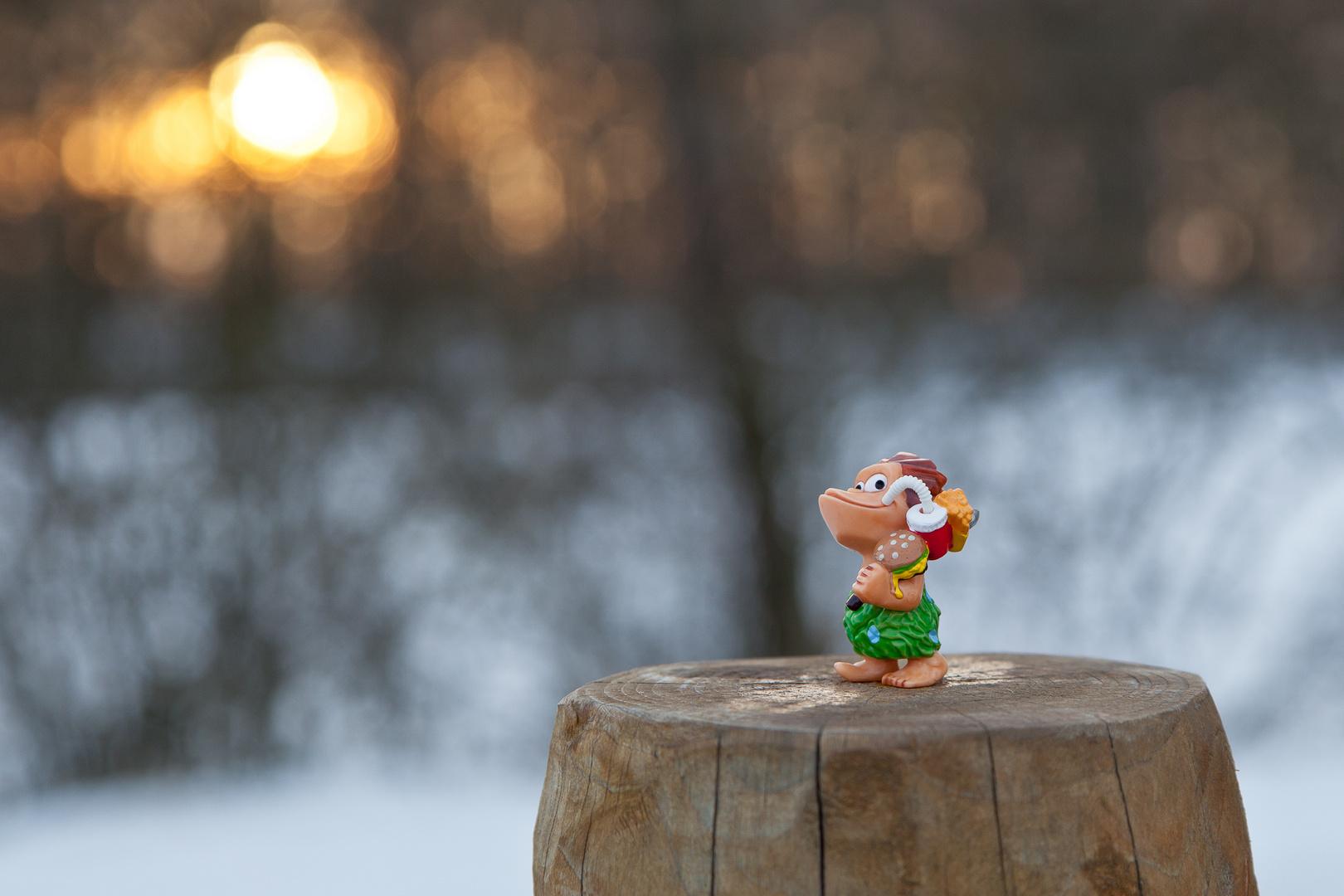 Spielerei im Schnee :)