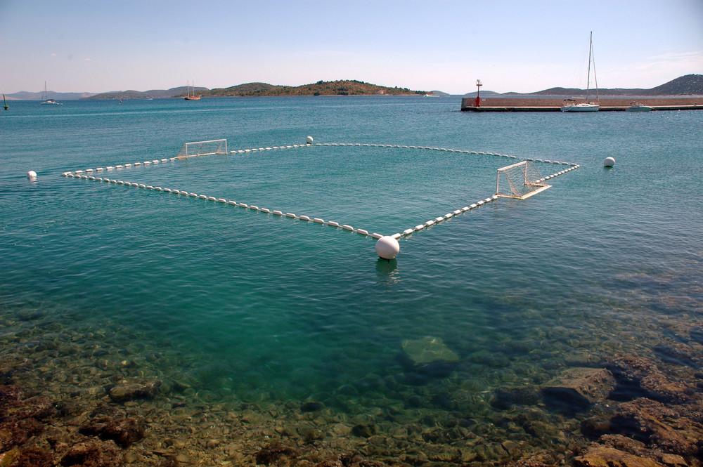 Spielfeld an der Adria Küste