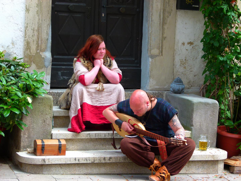 Spielleut auf Mittelalterfest (mit Durst)