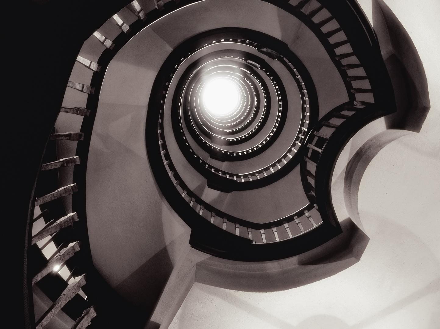 spiral to light ...