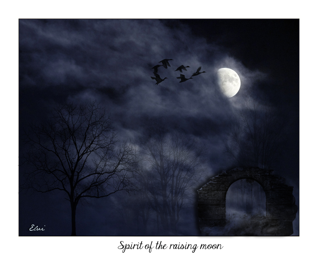 Spirit of the raising moon