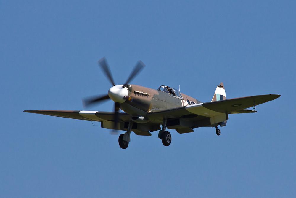 Spitfire im Landeanflug