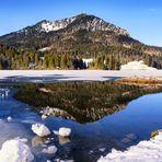Spitzingsee im Winter - Blick vom Ort über den See