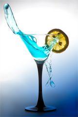 Splash in Blau