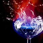 Splash with fire