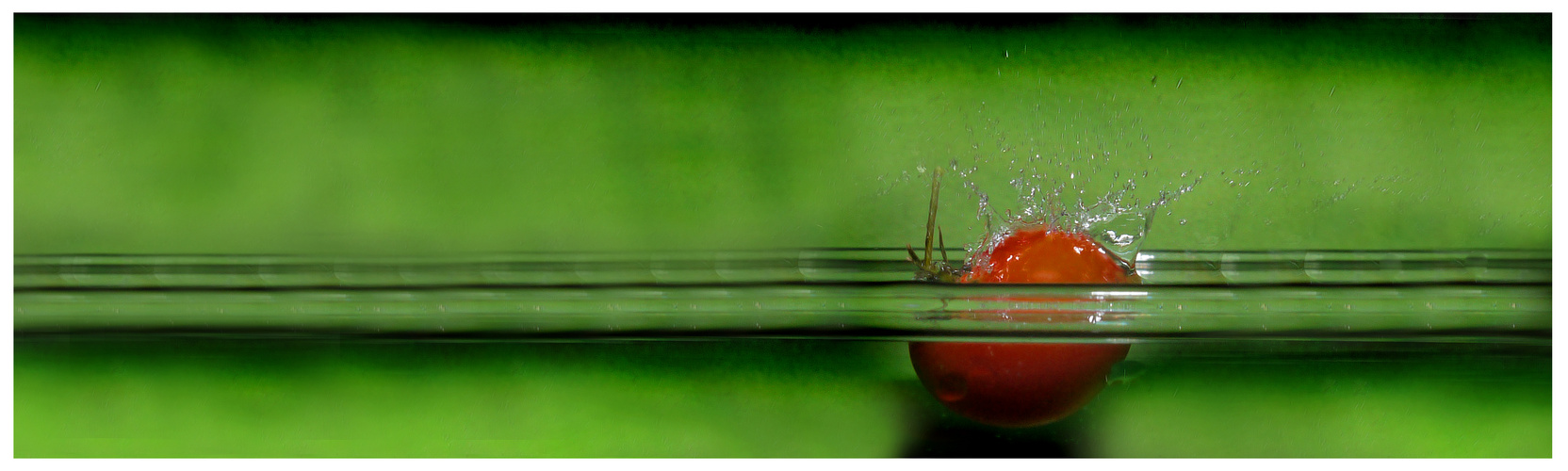 splashing tomate