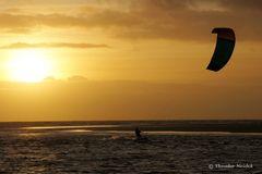 Sport vor Sonnenuntergang