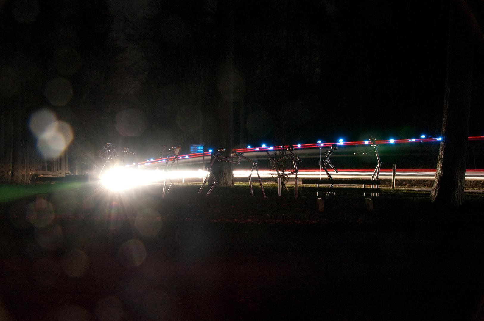 Sportler in der Nacht