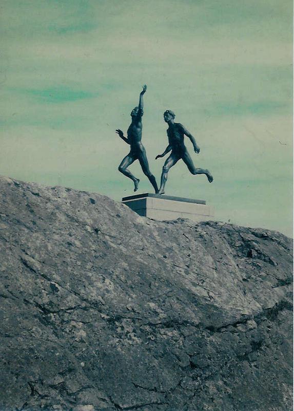 Sportlerdenkmal am östlichen Ufer des Vätternsees