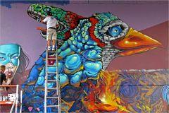 sprayer artist at work