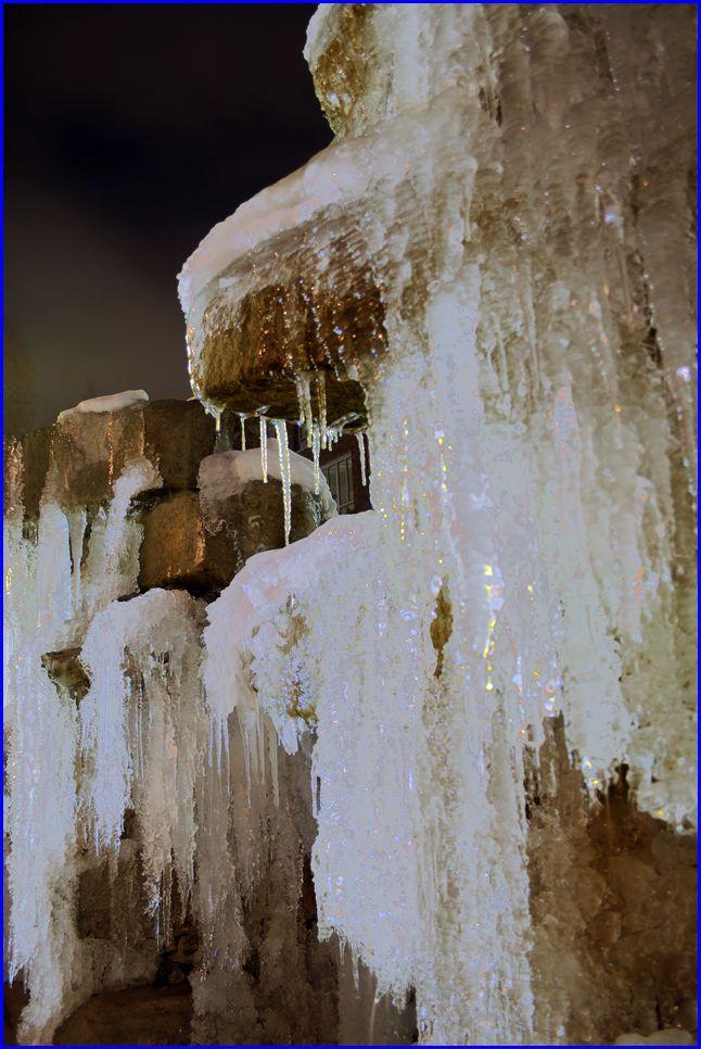 Springbrunne im Winter