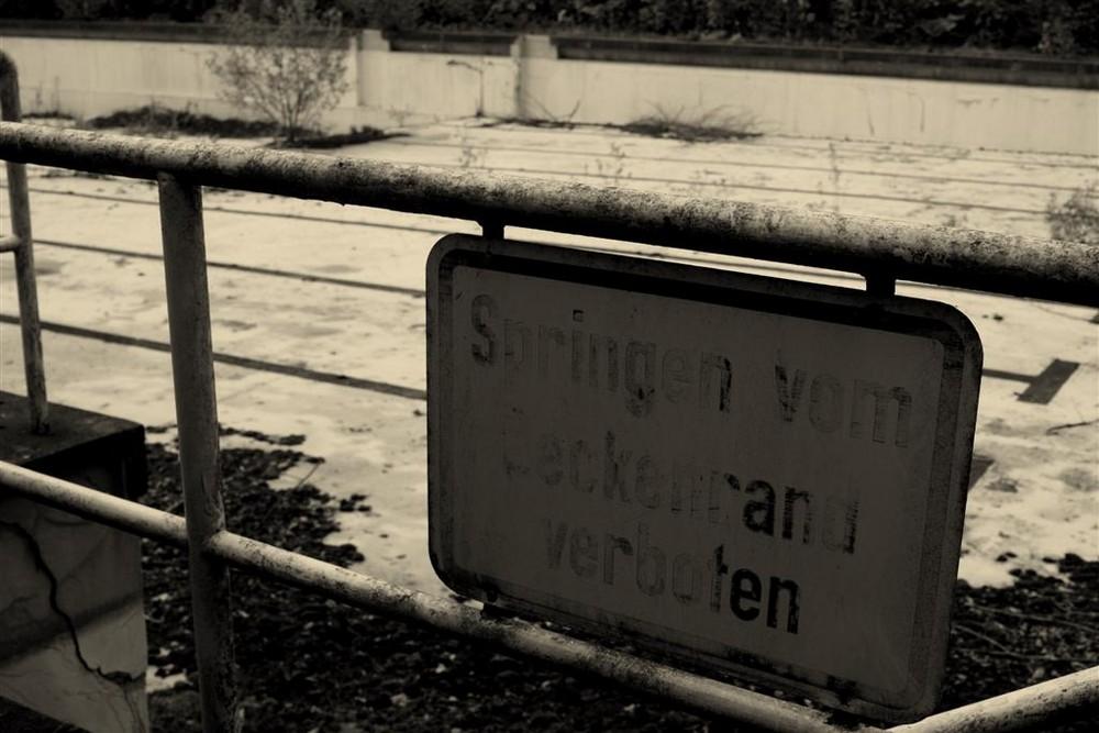 Springen verboten!