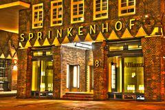 Sprinkenhof Haupteingang HDR Nacht
