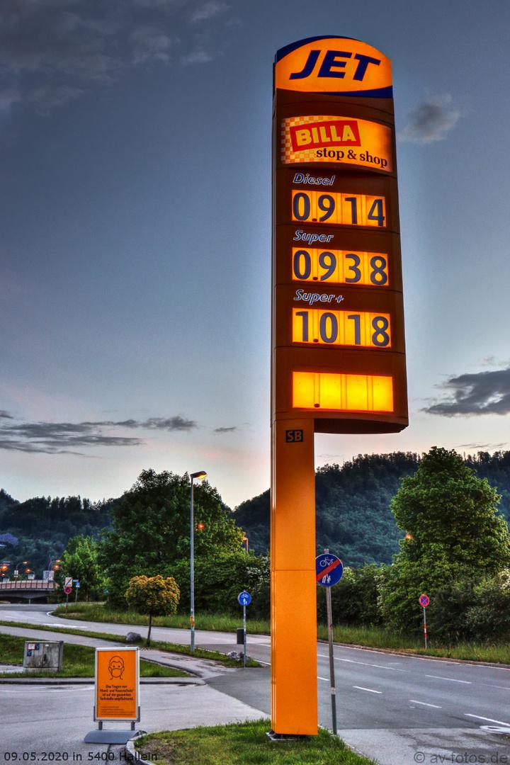 Spritpreise 09.05.2020 Österreich