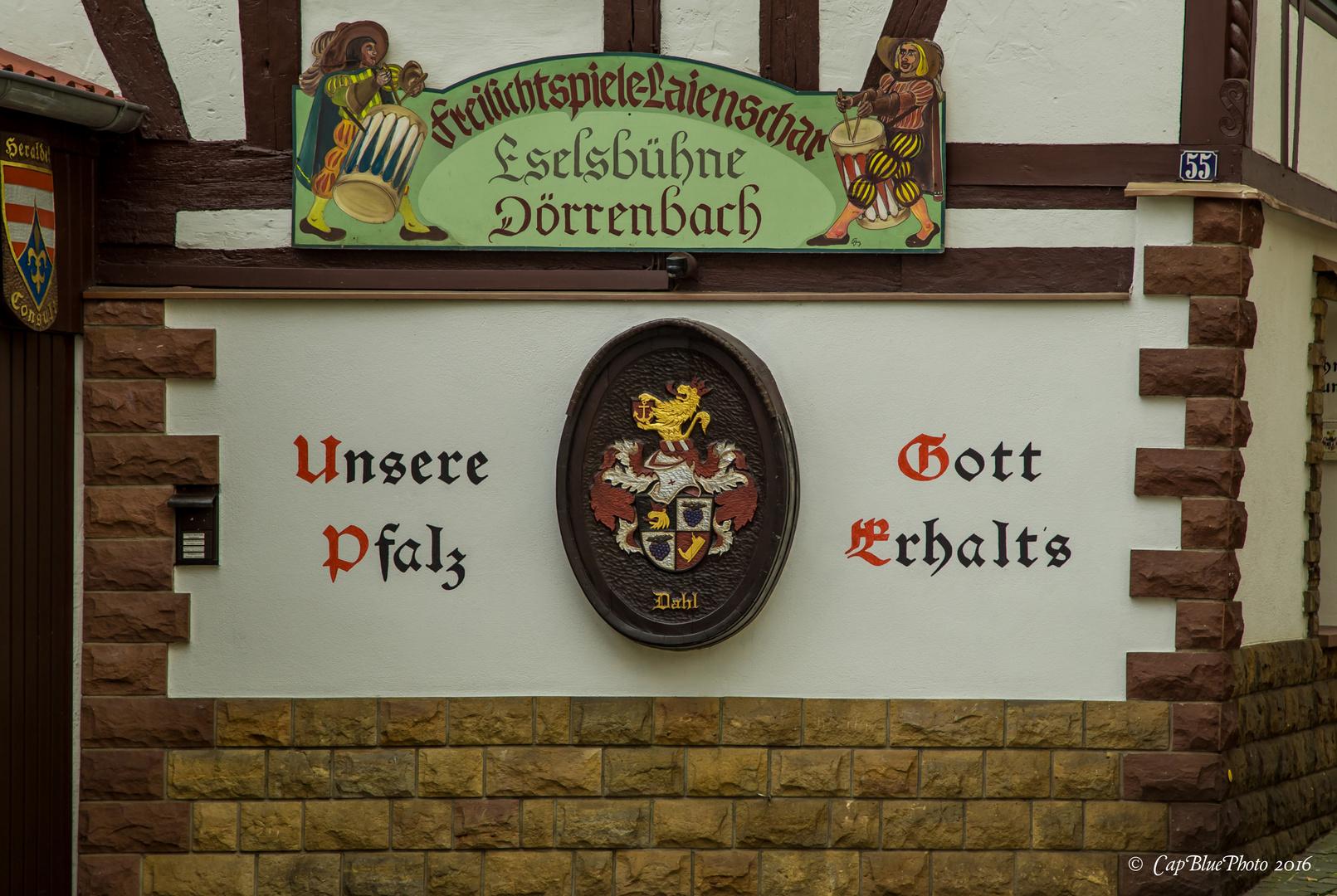 Sprüche und Wappen in Dörrenbach
