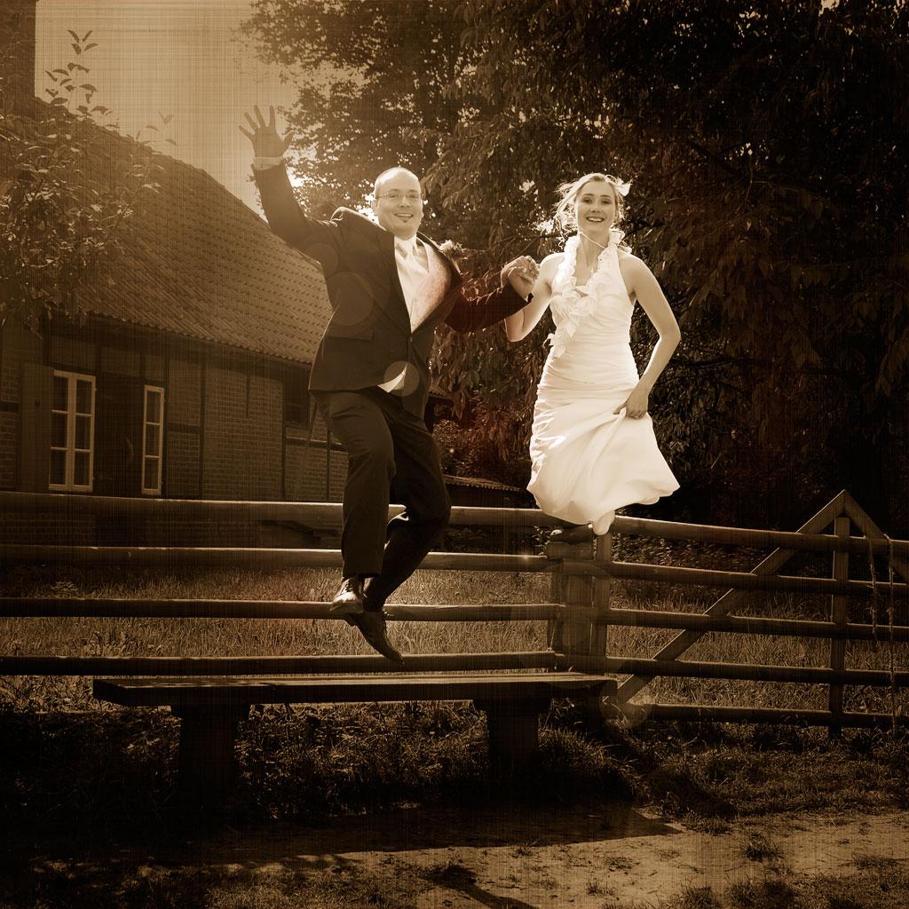 Sprung in's (Ehe-)Glück