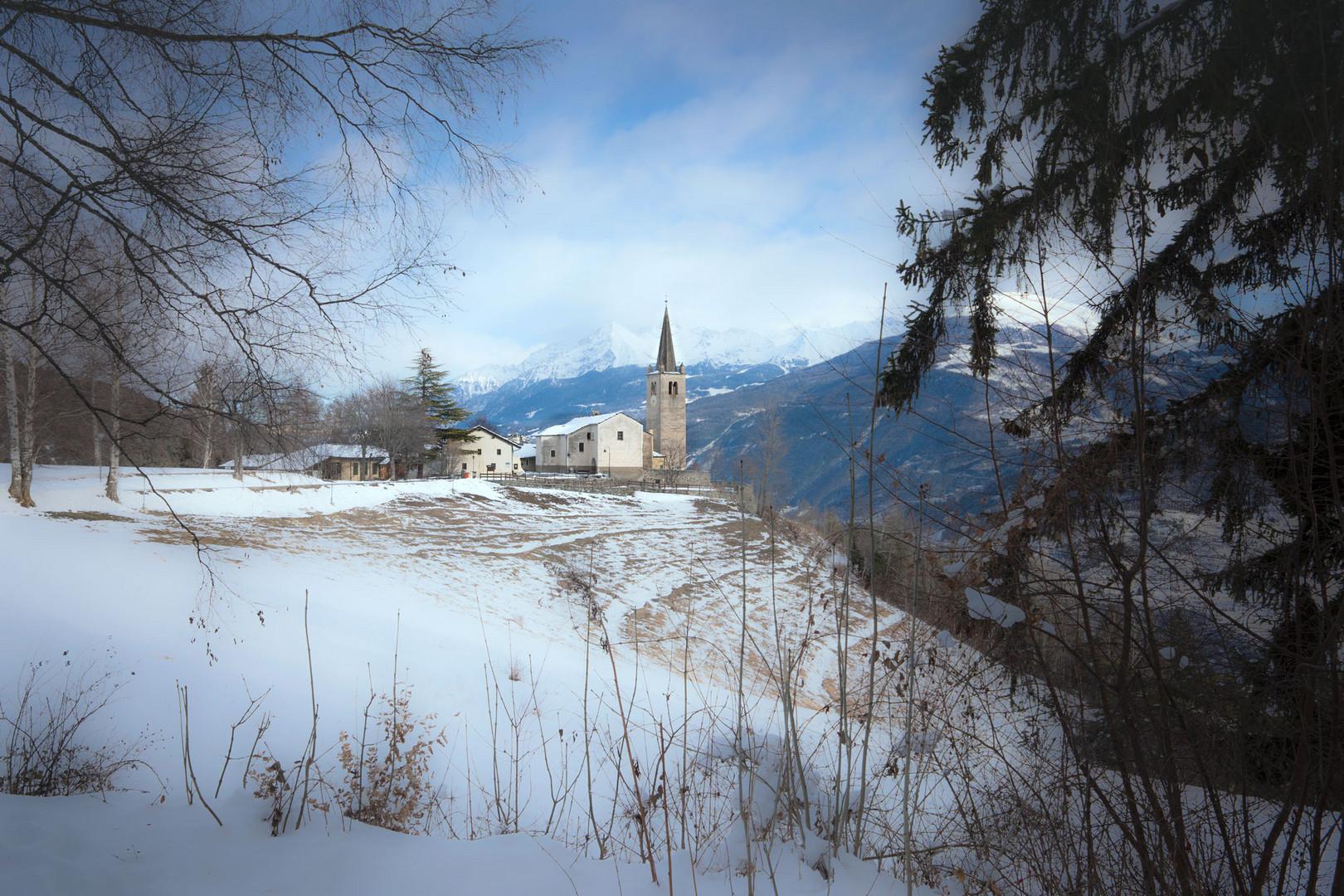 Spruzzi di neve su Saint Nicolas (Valle d'Aosta)