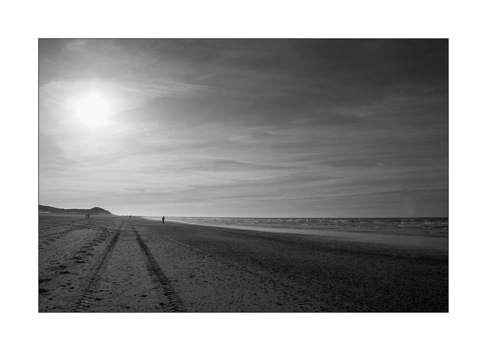 Spur am Strand ...