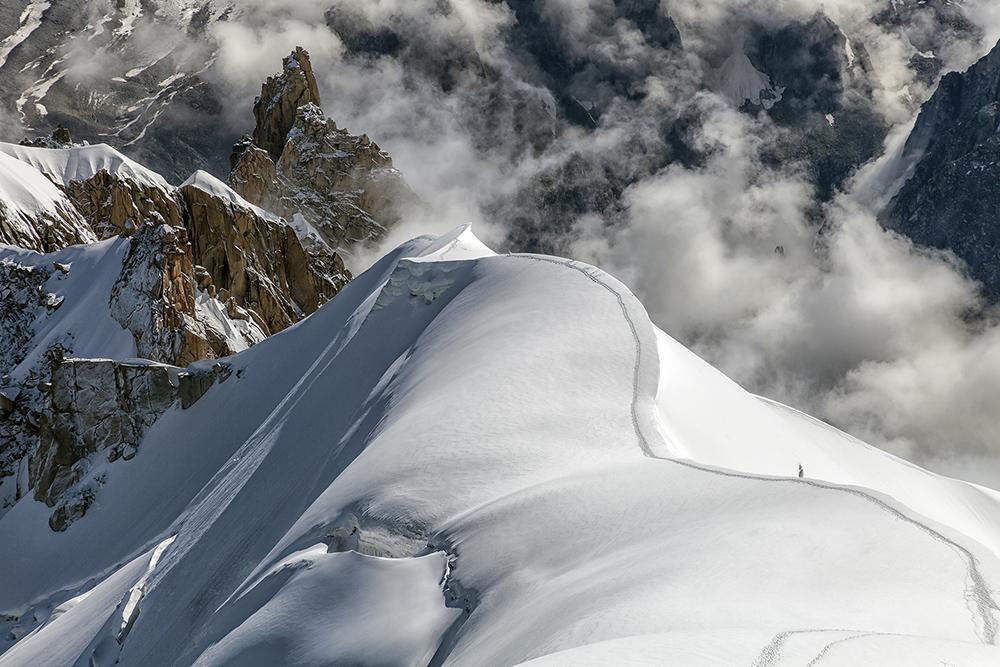 Spur im Schnee...