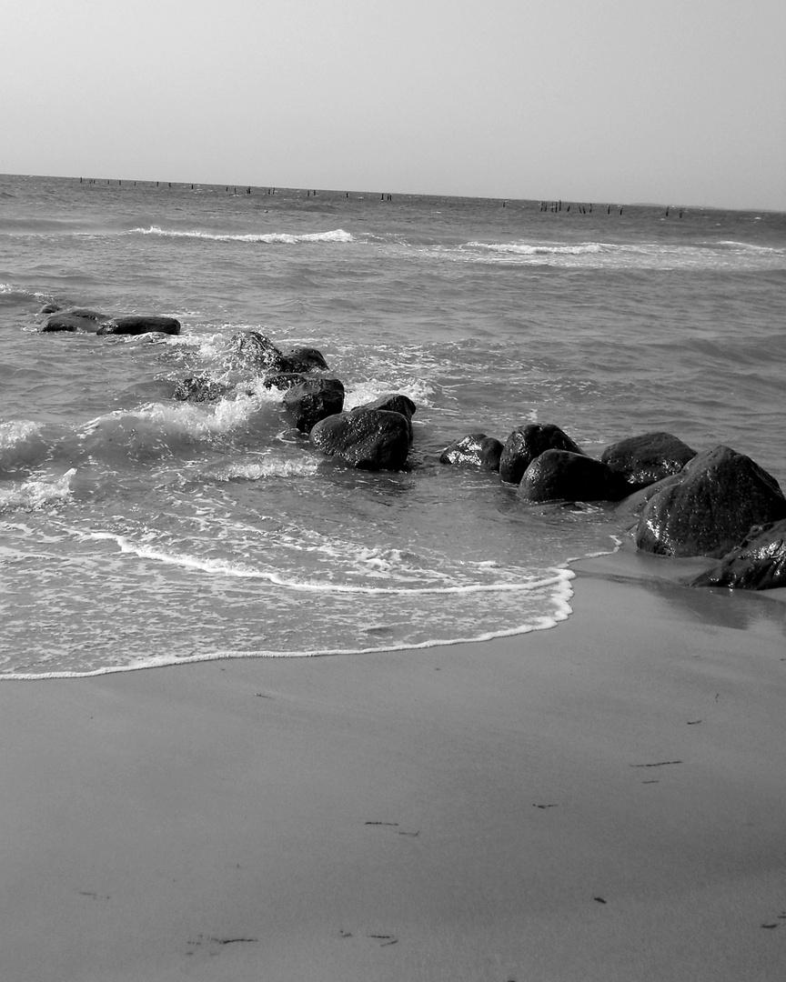 Spuren im Meer