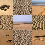 Spuren im Sand am Noordwijker Strand (Niederlande) (21.03.2012)