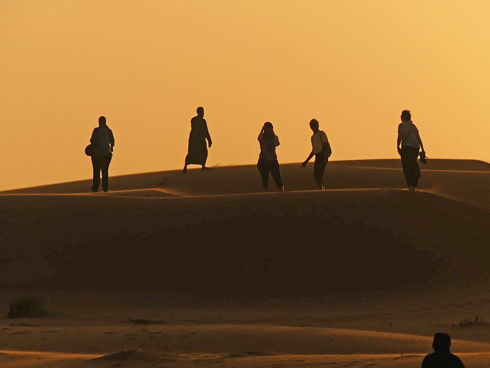 Spurt über die Dünen