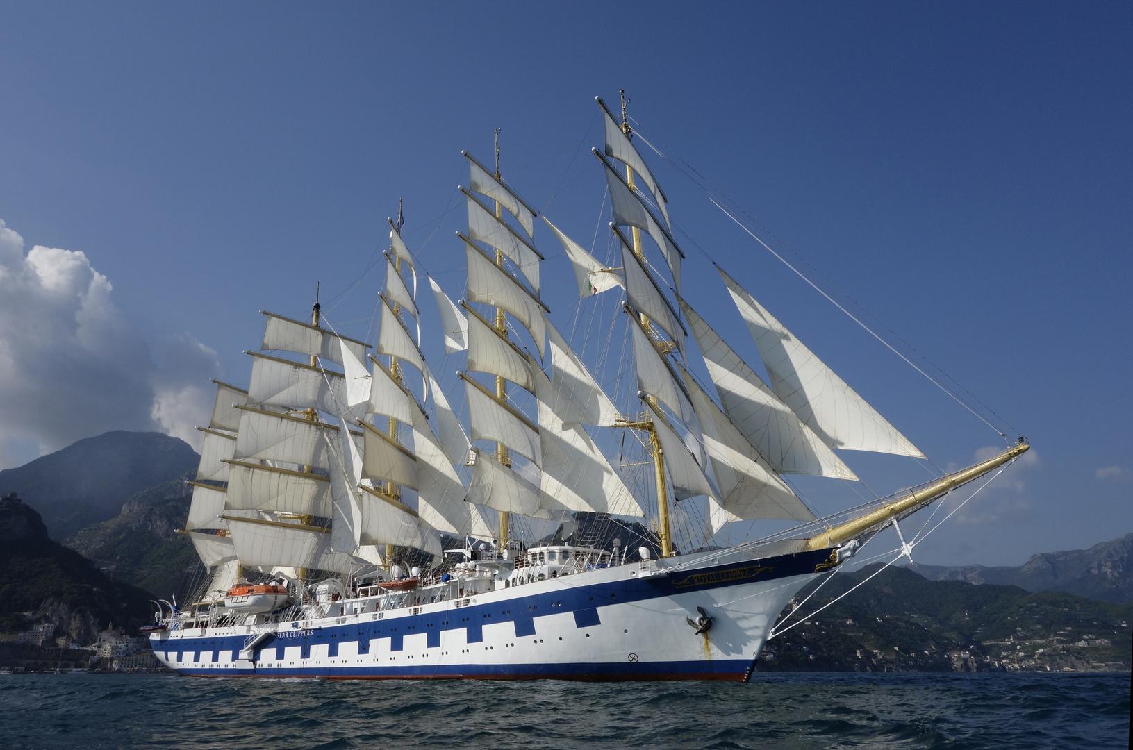 SPV Royal Clipper vor Amalfi