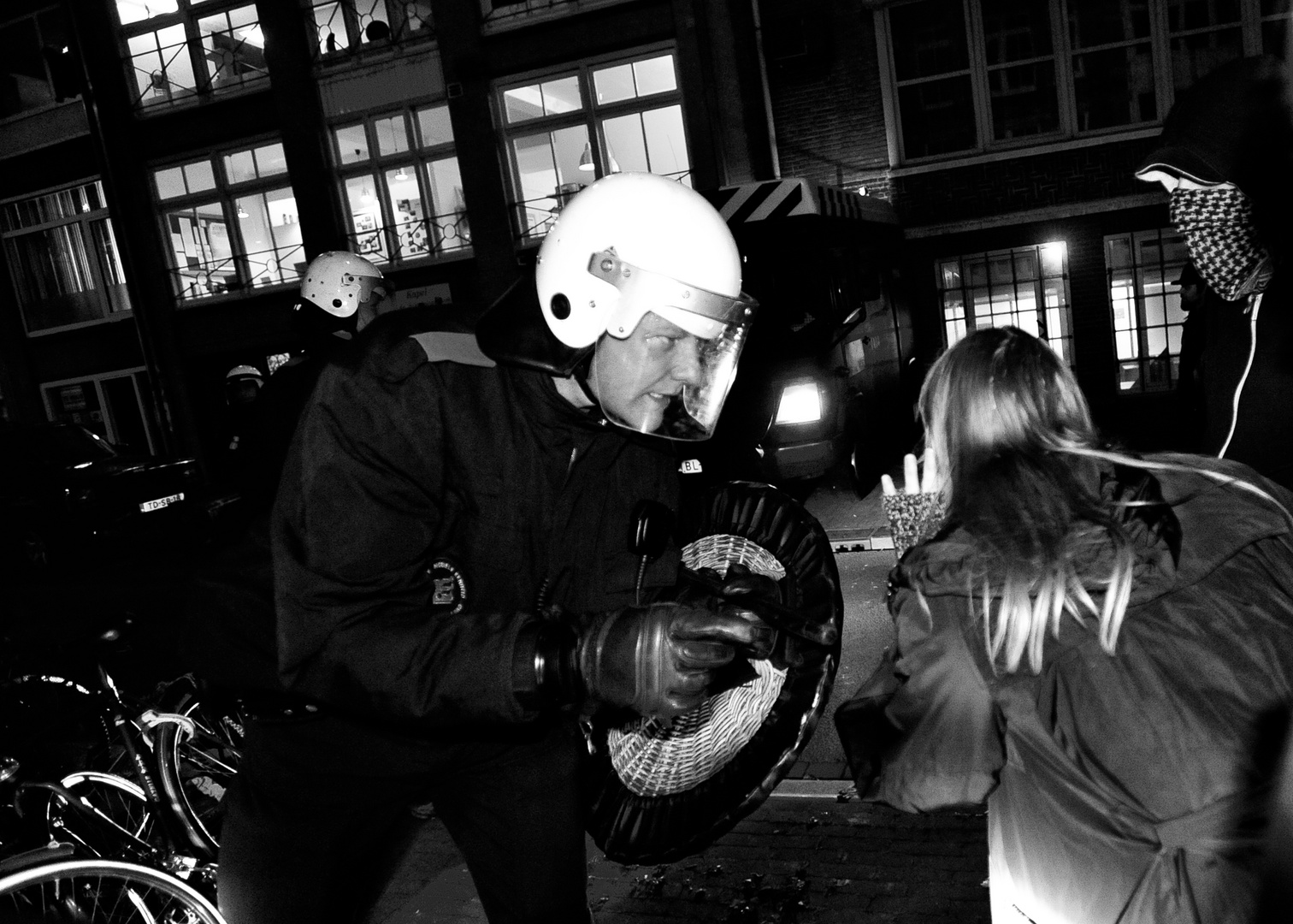 Squatters riot in Amsterdam
